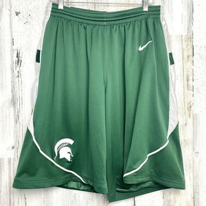 Nike Michigan State Basketball Authentic Shorts L